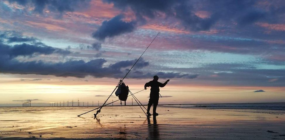 Individual Sea angling on local beach at Redcar, Cleveland - 2. Picture by Rob Hendry