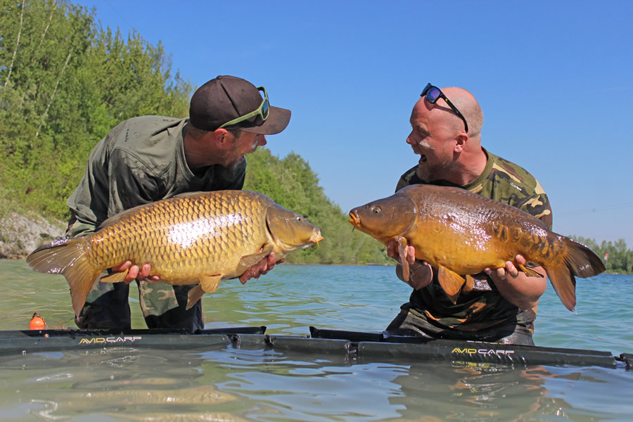 Mat Woods carp fishing with friend Bjorn