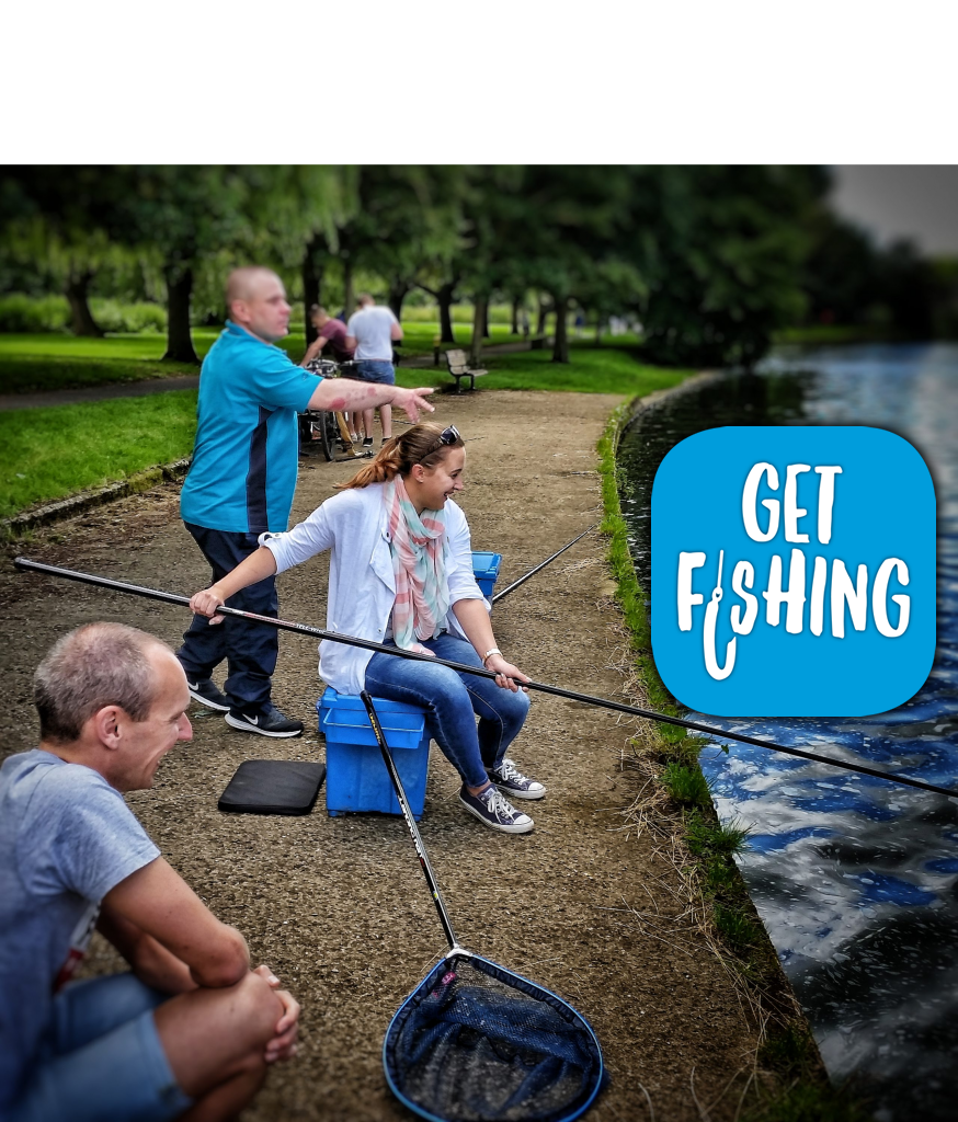 Get Fishing | Beginner fishing event with Get Fishing logo