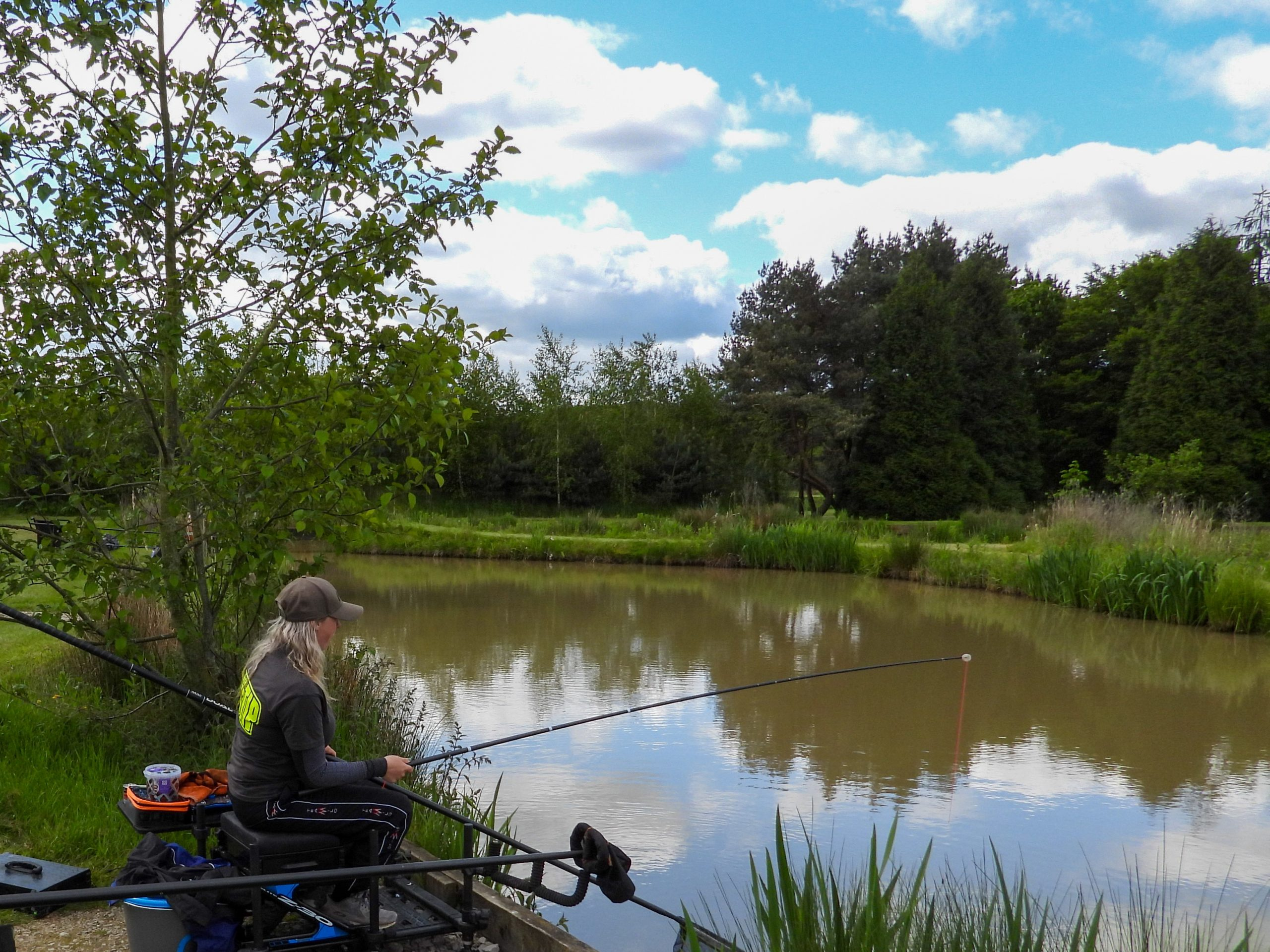 Get Fishing - Emma Harrison Fishing at a commercial fishery