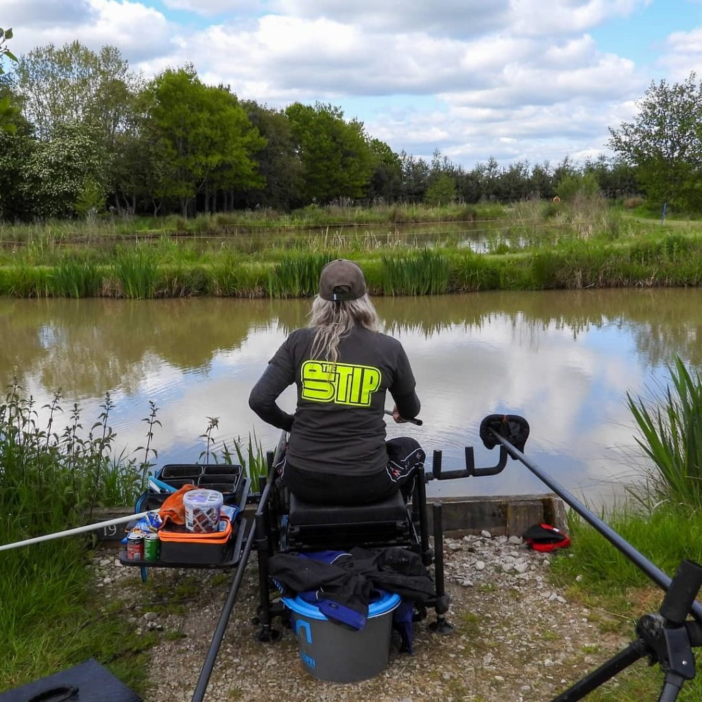 Get Fishing - Emma Harrison Fishing on a seatbox