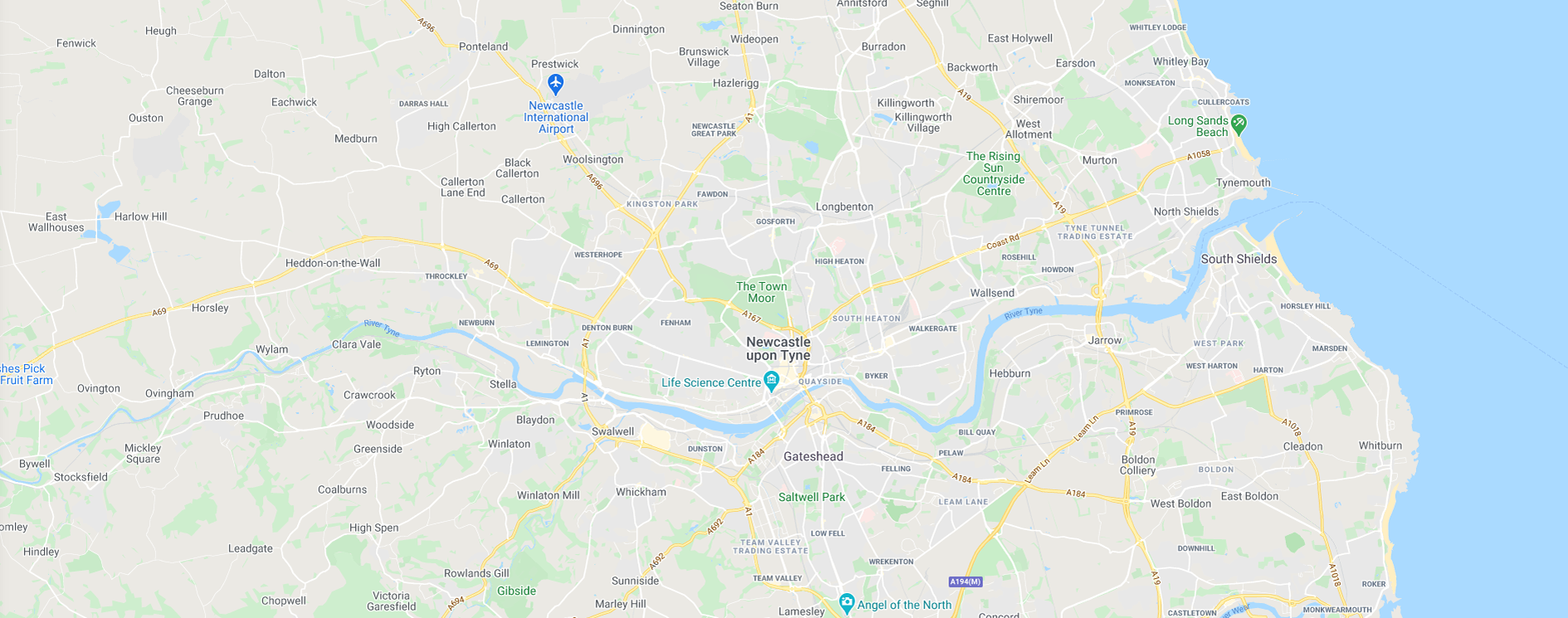 Get Fishing | Map North East England