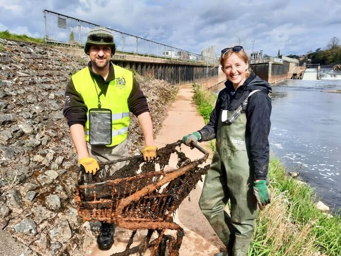 Anglers Against Litter Emily Smith Dom Garnett