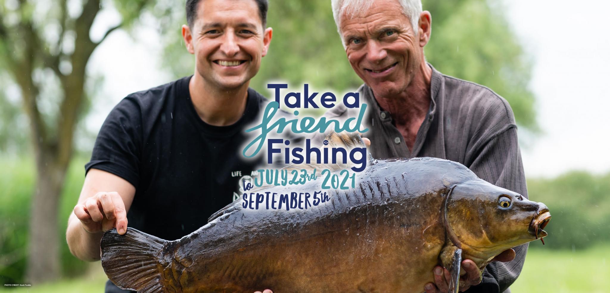 Get Fishing | Take a Friend Fishing - credit Nash Tackle - AT header-reduced